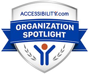 Badge: Accessibility.com Organization Spotlight