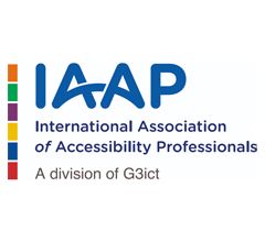 Logo for International Association of Accessibility Professionals (IAAP)