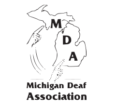 Logo for Michigan Deaf Association